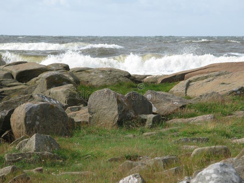 nabrzeżny krajobrazowy skalisty obrazy stock
