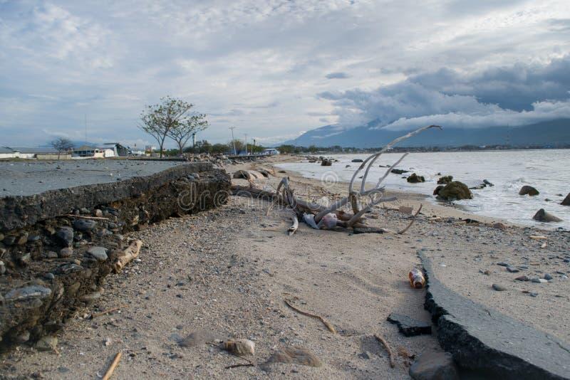 Nabrzeżny Palu, Indonezja Uszkadzał fotografia royalty free