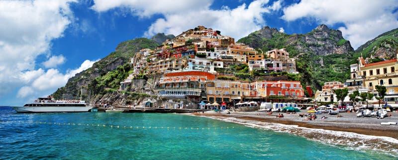 Nabrzeżny Włochy Positano - fotografia royalty free