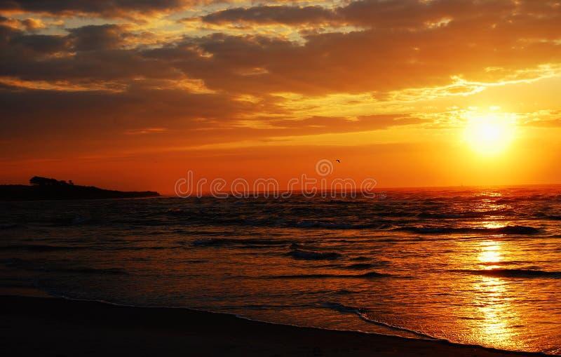 nabrzeżny wschód słońca zdjęcia royalty free