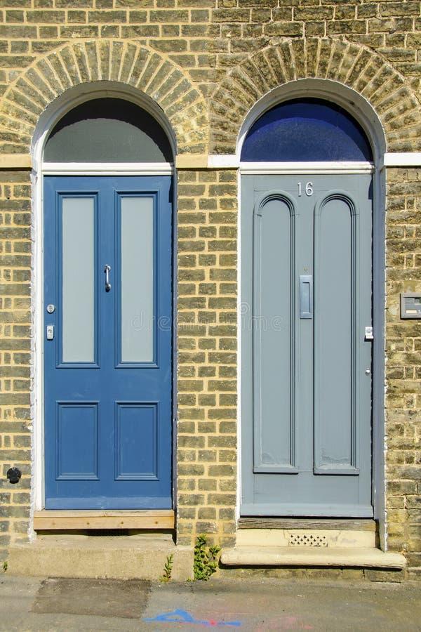 Naburige deuren in Cambridge royalty-vrije stock fotografie