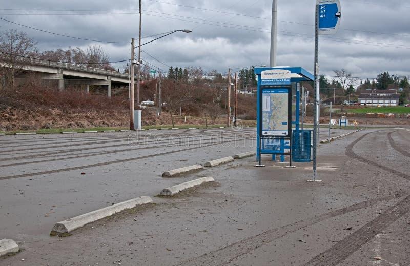 Nach Überschwemmung-Bushaltestelle lizenzfreies stockbild