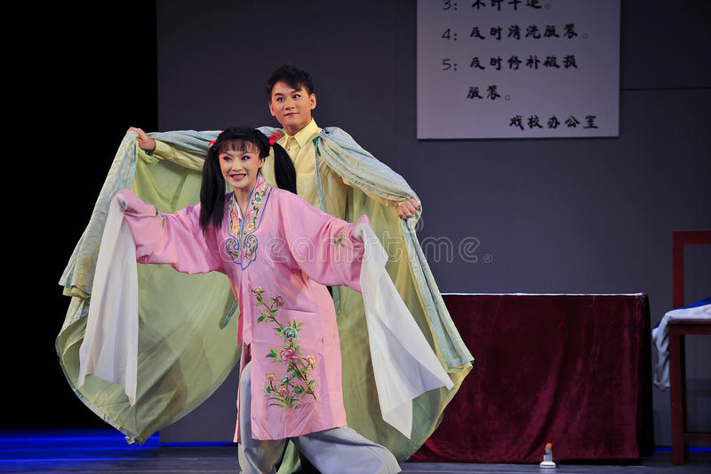 Nach dem Mantel Kulturrevolutions-wieder geborenjiangxis OperaBlue lizenzfreie stockfotos
