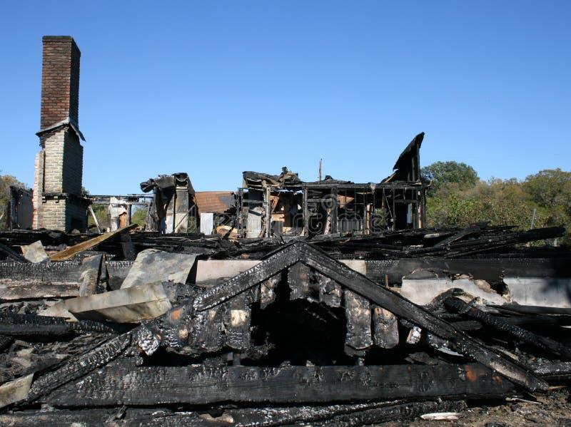 Nach Hause gebrannt stockfotografie