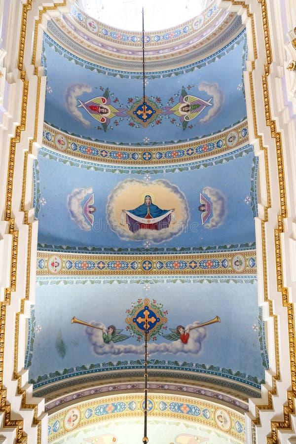 Nach innen von der Transfigurations-Kirche in Lemberg lizenzfreies stockfoto