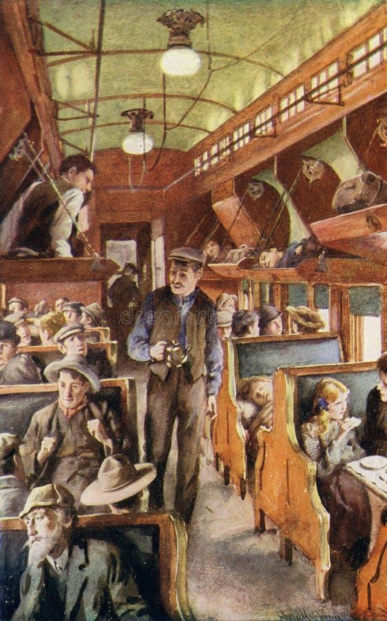 nach Kanada, circa 1900 auswandern stock abbildung