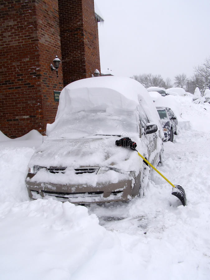 Nach Schneefällen lizenzfreies stockfoto