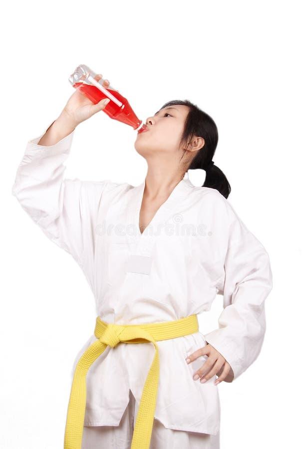 Nach Taekwondo-Training lizenzfreies stockbild