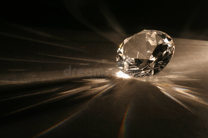Nachahmung des Diamanten stockbild