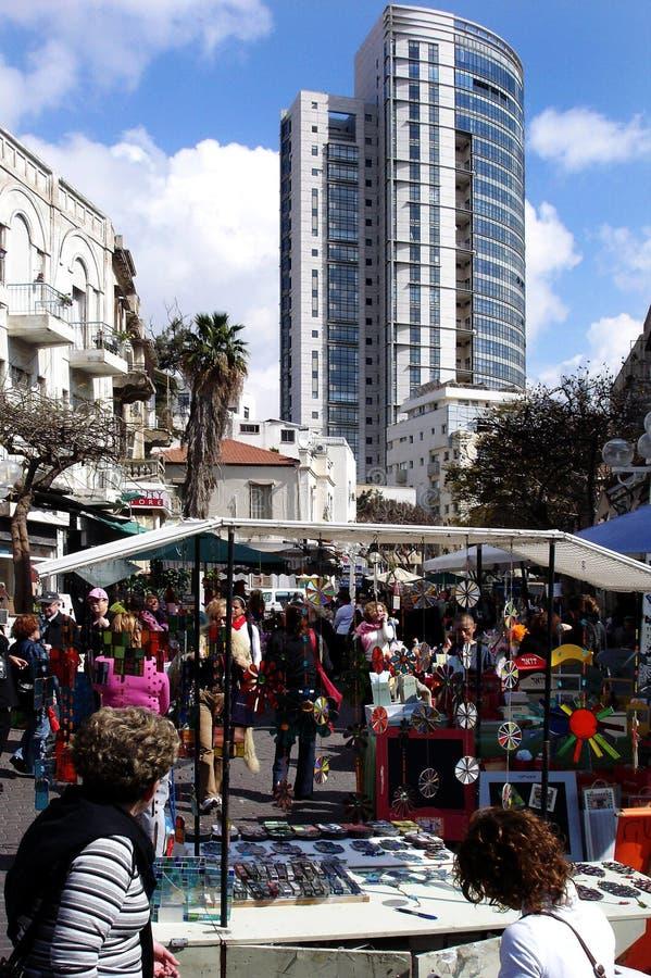 Nachalat Binyamin Market in Tel Aviv royalty-vrije stock foto's