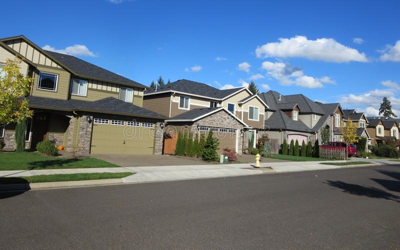 Nachbarschaft in Vancouver Washington lizenzfreies stockfoto