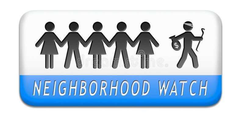 Nachbarschaftswache lizenzfreie abbildung