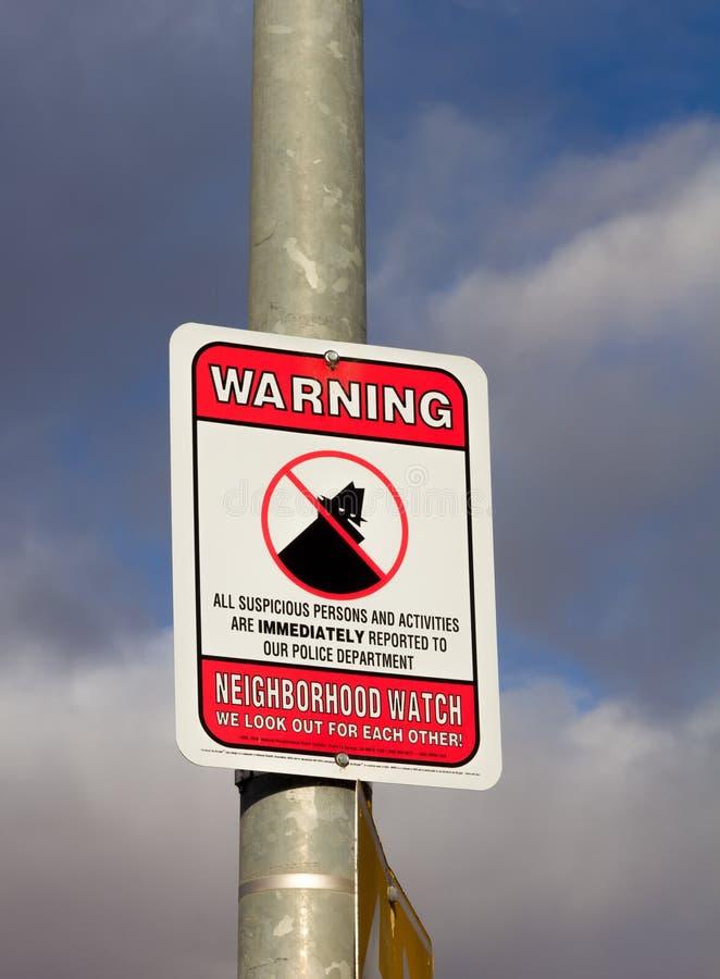Nachbarschaftswache-Zeichen stockfotografie