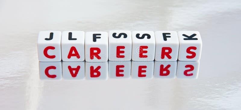 Nachdenken über Karrieren stockfotos