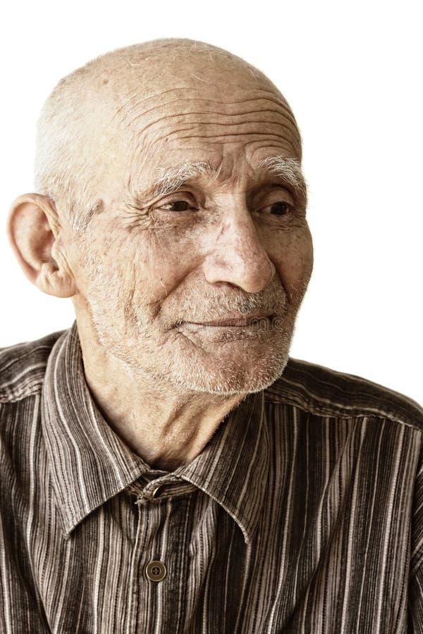 Nachdenklicher älterer Mann lizenzfreies stockfoto