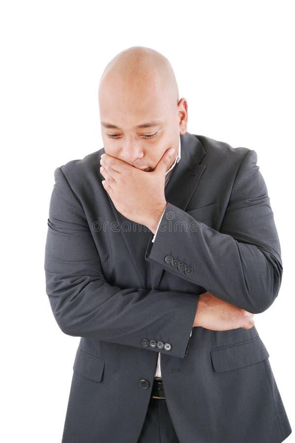 Download Nachdenklicher Besorgter Geschäftsmann Stockbild - Bild von zuhause, nervös: 26368501