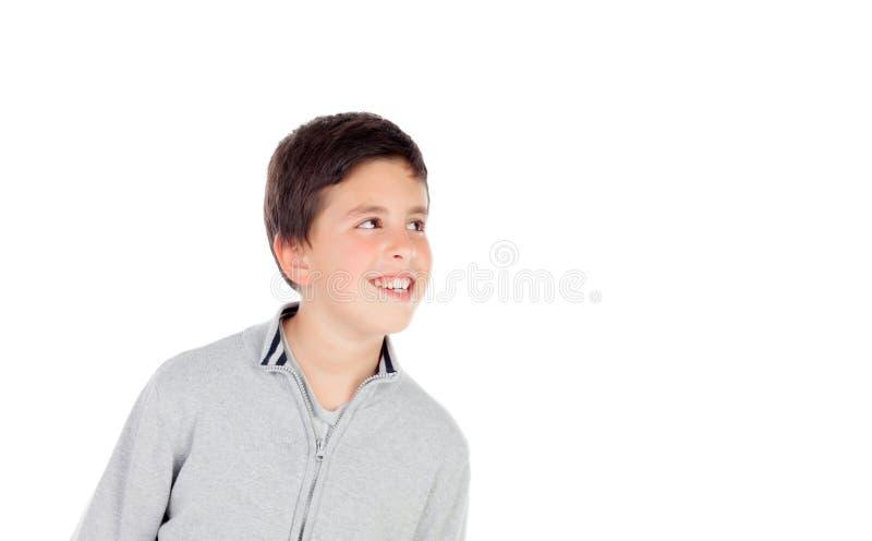 Nachdenklicher Teenager von dreizehn stockfoto