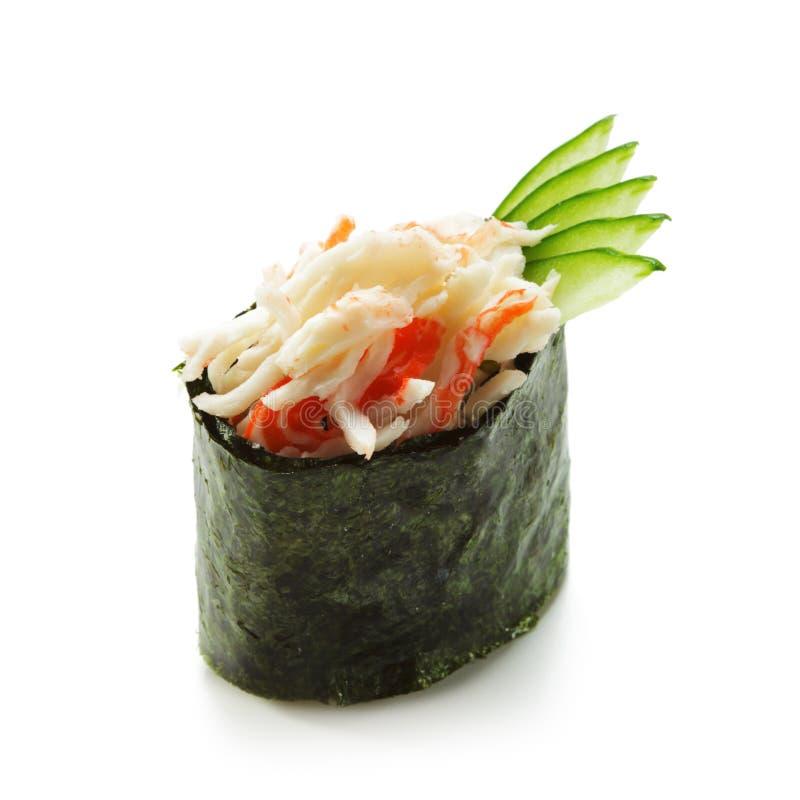 Nachgemachte Befestigungsklammer-Sushi stockfotos