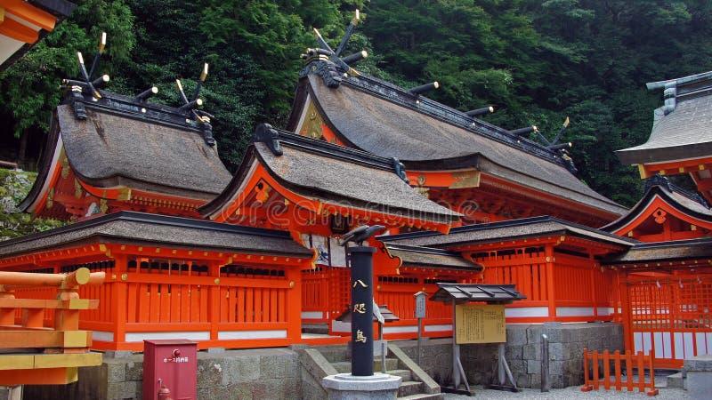 Nachi baja capilla en Japón imagen de archivo