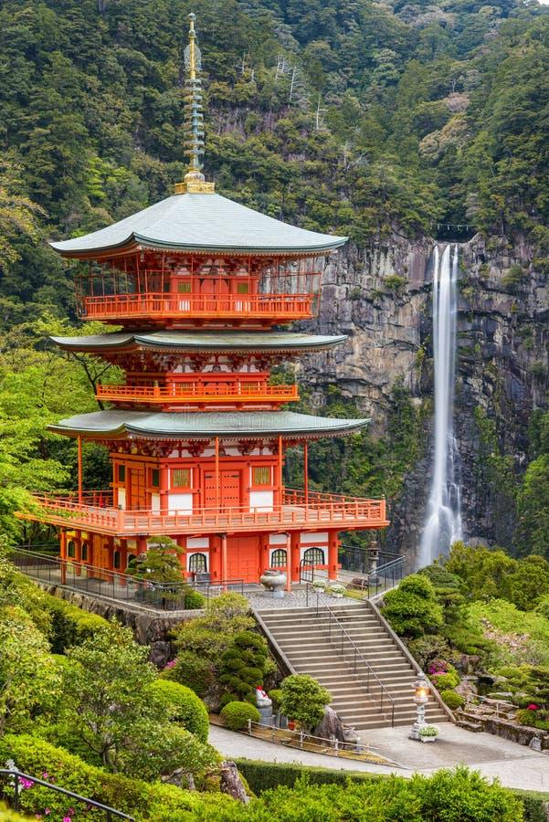 Nachi Taisha Shrine i Nachi, Wakayama, Japan royaltyfri foto
