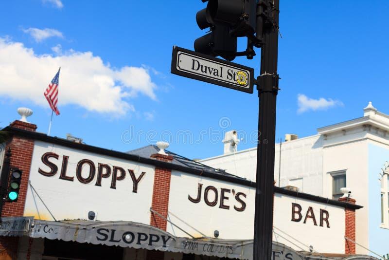 Nachlässiges Joes Key West lizenzfreie stockfotos