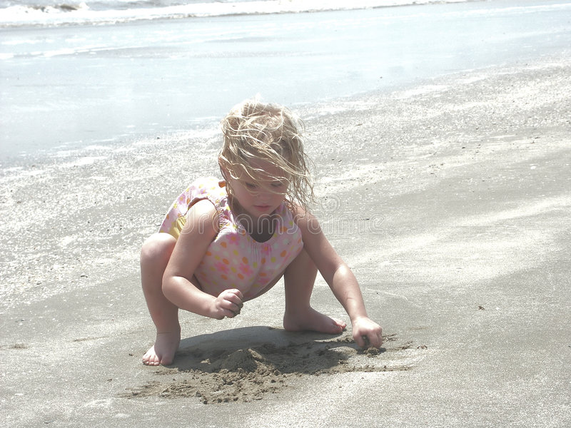 Nachmittag eines Sommers am Strand stockbild