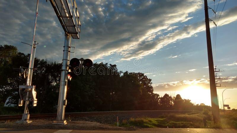 Nachmittag Eisenbahn stockbilder