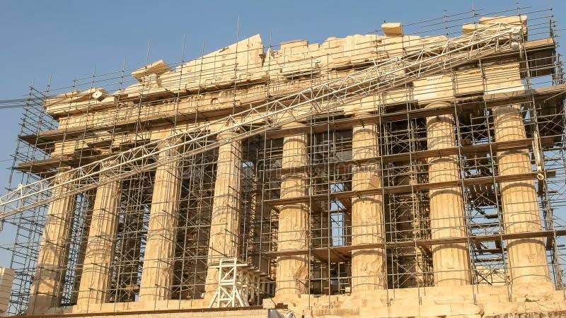 Nachmittag geschossen vom Parthenon in Athen, Griechenland lizenzfreies stockbild