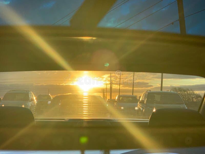 Nachmittags-Verkehr stockfoto