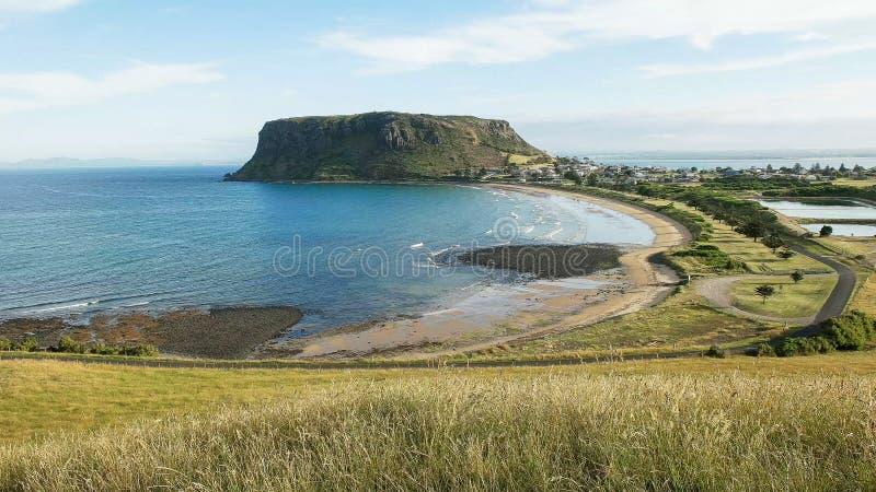 Nachmittagsansicht der Nuss bei Stanley, Tasmanien lizenzfreie stockfotos