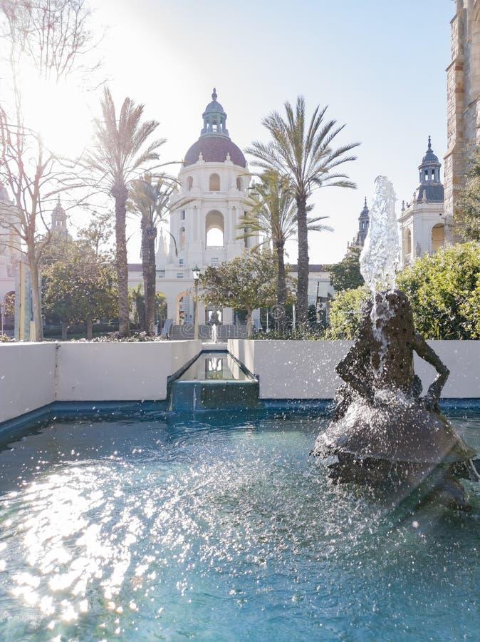 Nachmittagsansicht von schönen PasadenaRathaus in Los Angeles, Kalifornien stockfoto