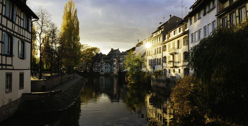 Nachmittagslicht in Straßburg stockfotos