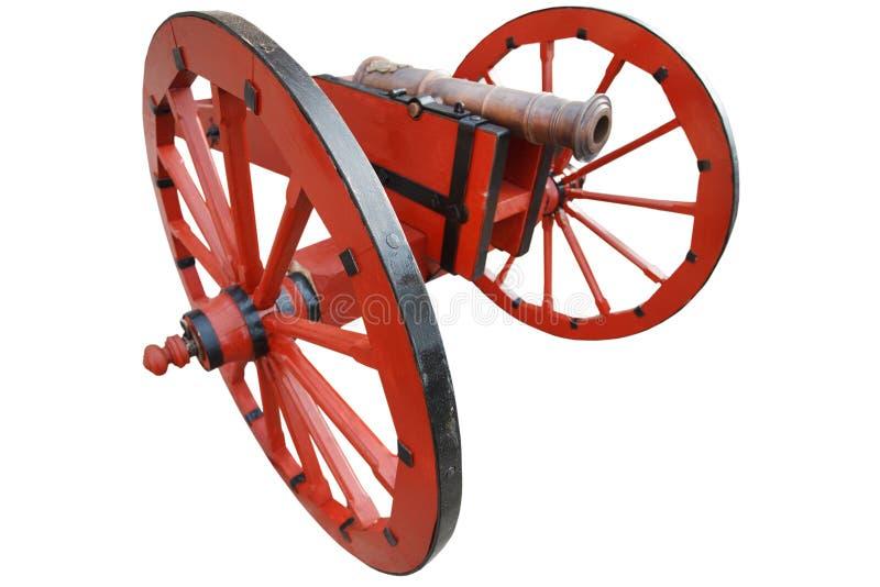 nachmittelalterliche Artilleriekanone des alten Schie?pulvers der Weinlese roten lizenzfreies stockfoto