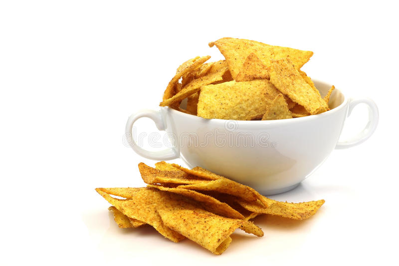 Nacho chips royalty free stock photos