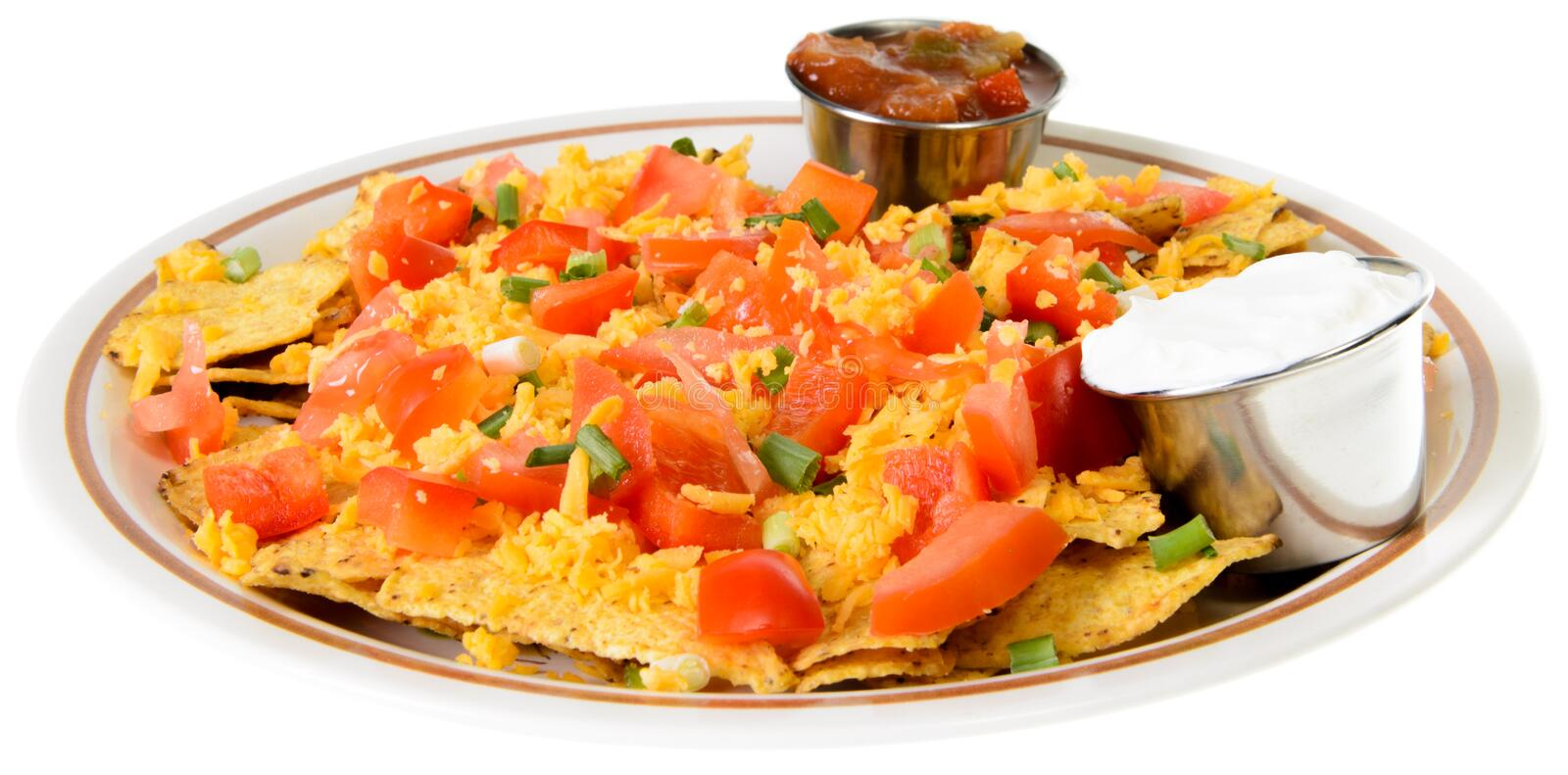 Download Nachos stock photo. Image of sauce, mexican, white, chips - 27759734
