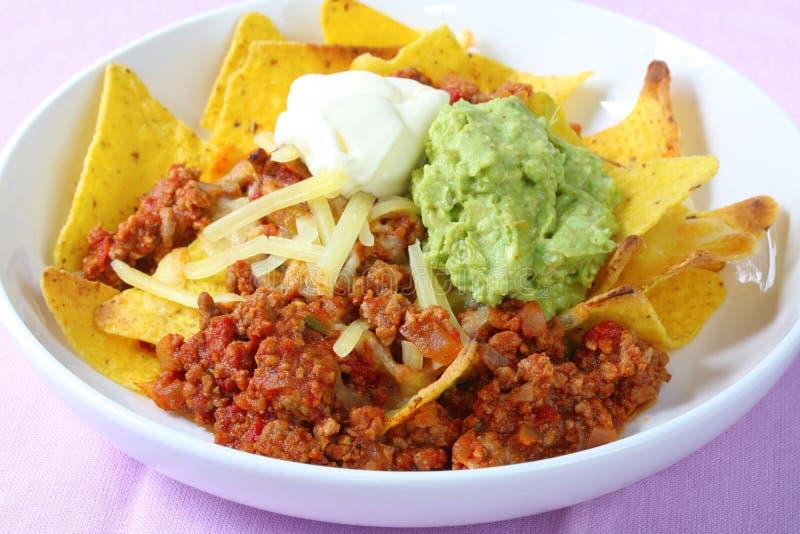 Download Nachos stock image. Image of shredded, guacamole, hispanic - 4678753
