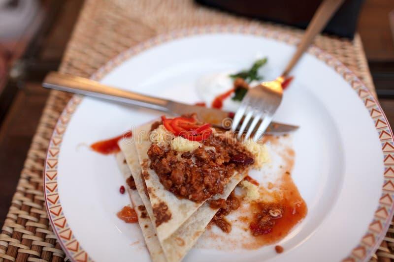 Nachos con carne de vaca fotografía de archivo libre de regalías