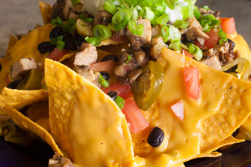 Nachos de fromage photo stock