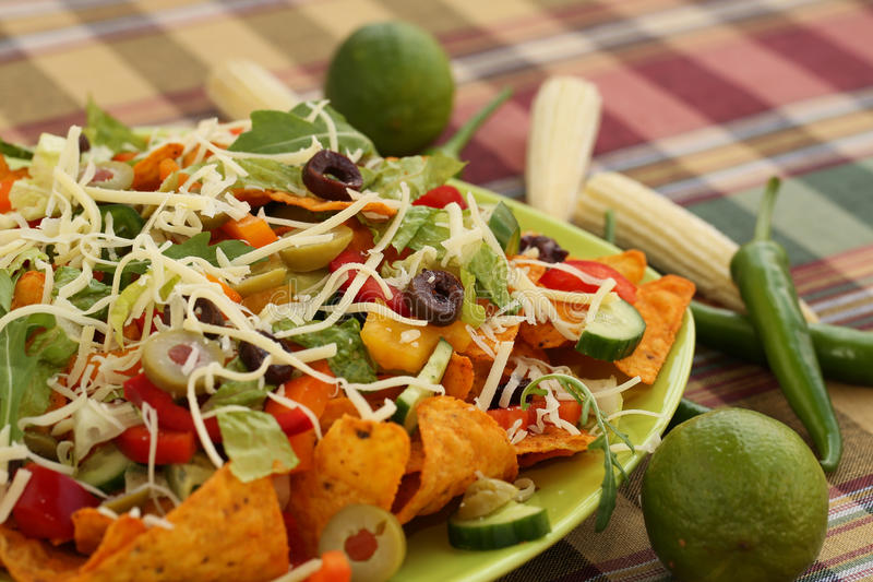 Download Nachos stock image. Image of pepperoni, cucumber, nutritious - 31886609