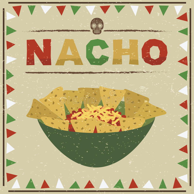 Nachos mexicains illustration de vecteur