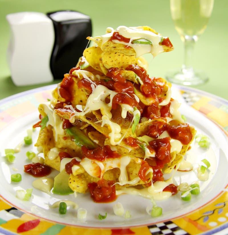 Nachos und Käse lizenzfreie stockfotografie