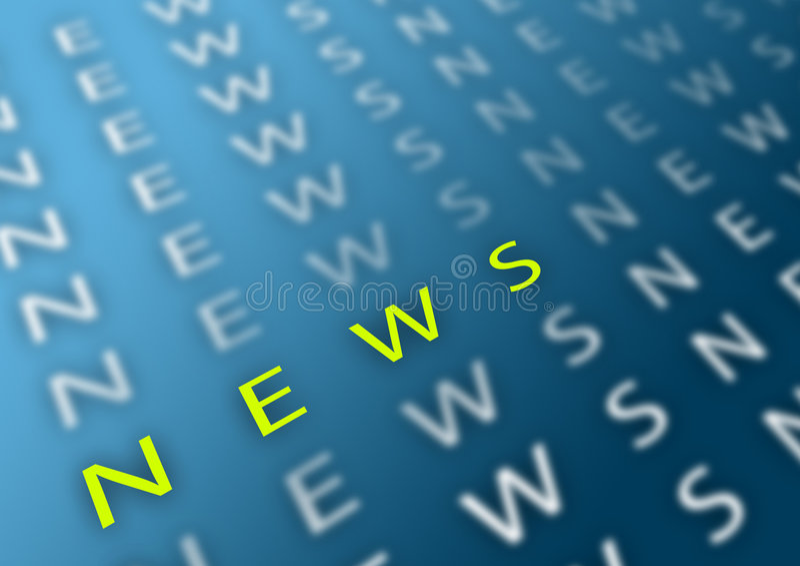 Nachrichten stock abbildung
