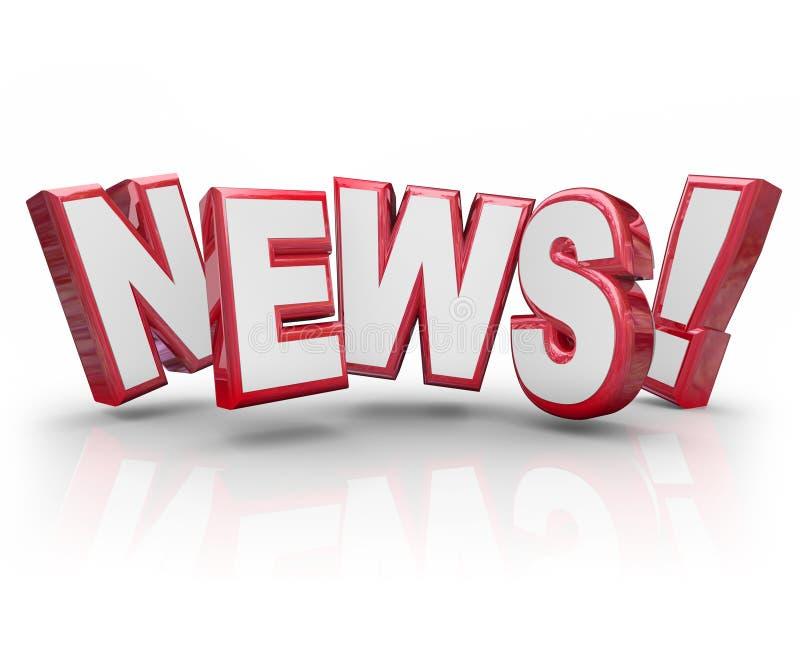 Nachrichten-Aktualisierungs-Alarm-Anteil-Informations-Klatsch-Summen-Gerücht lizenzfreie abbildung