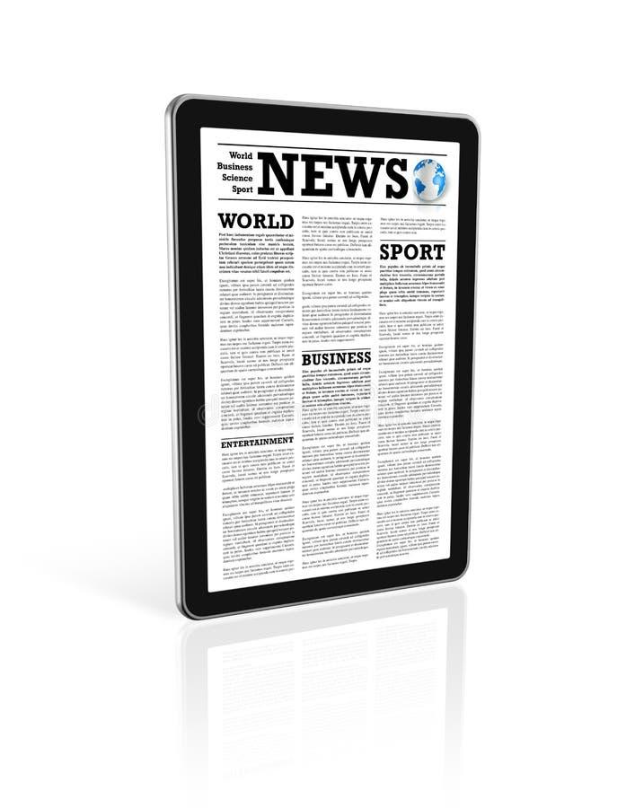 Nachrichten auf einem digitalen Tablette-PC-Computer stock abbildung