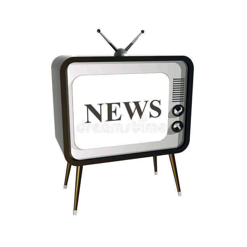 Nachrichten auf Fernsehapparat vektor abbildung