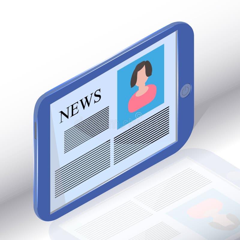 Nachrichten auf generischem Tablette PC lizenzfreie abbildung