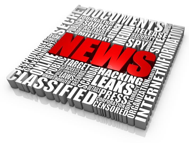 Nachrichten-Dokumenten-Lecks stock abbildung
