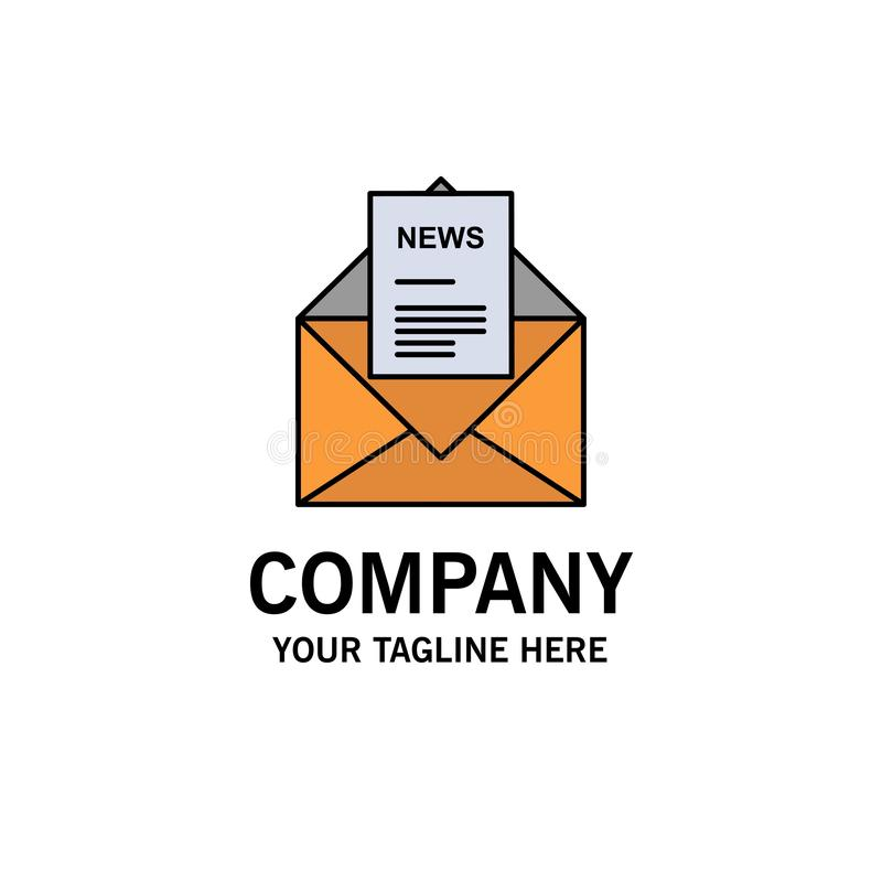 Nachrichten, E-Mail, Geschäft, entsprechend, Buchstabe-Geschäft Logo Template flache Farbe lizenzfreie abbildung