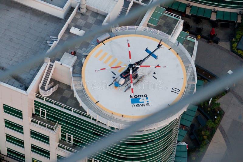 Nachrichten-Hubschrauber Seattle-KOMO lizenzfreie stockfotos