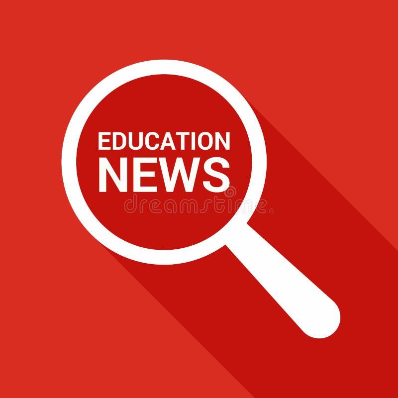 Nachrichten-Konzept: Optisches Vergrößerungsglas mit Wort-Bildungs-Nachrichten lizenzfreie abbildung